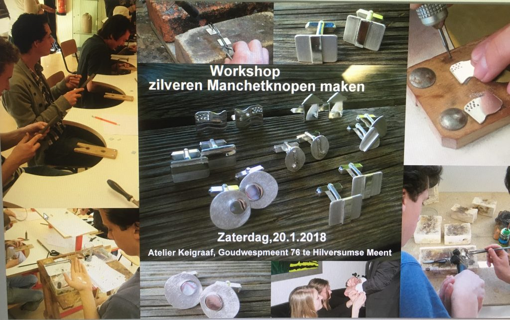 Workshop manchetknopen smeden bij edelsmid Antje Haumann